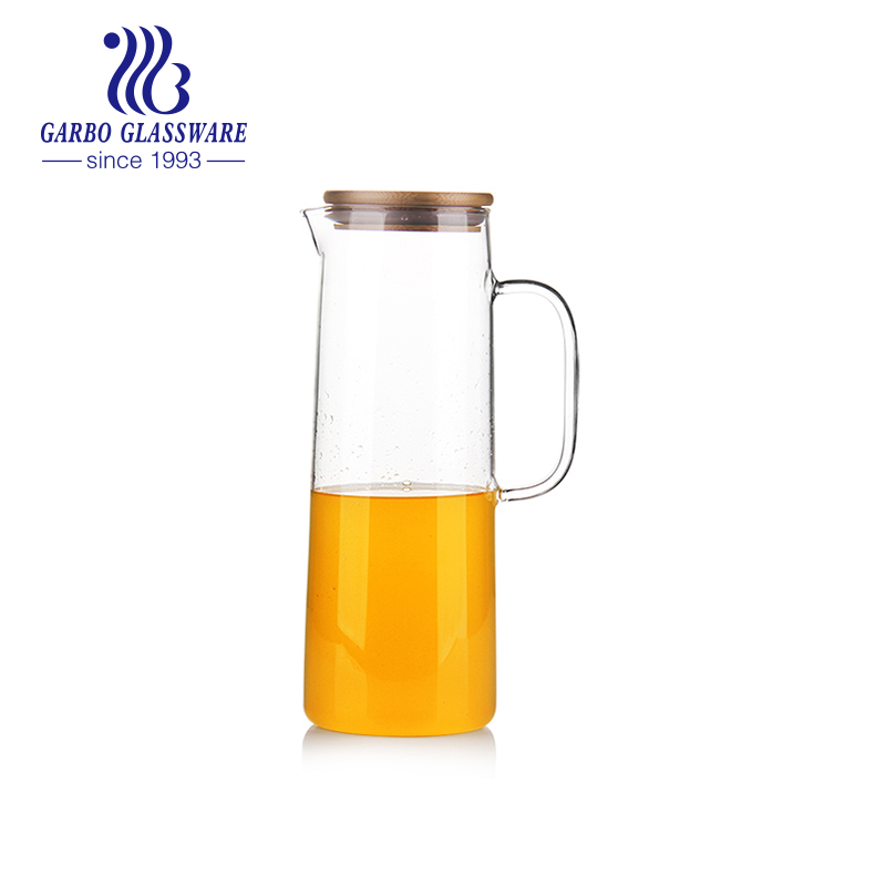 Heat resistant pyrex glass water jug borosilicate glass drinking pitcher
