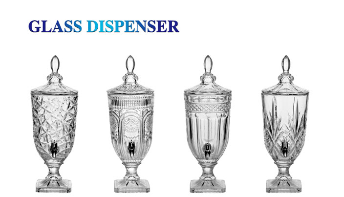 Hot sale crystal glass classic juice dispensers