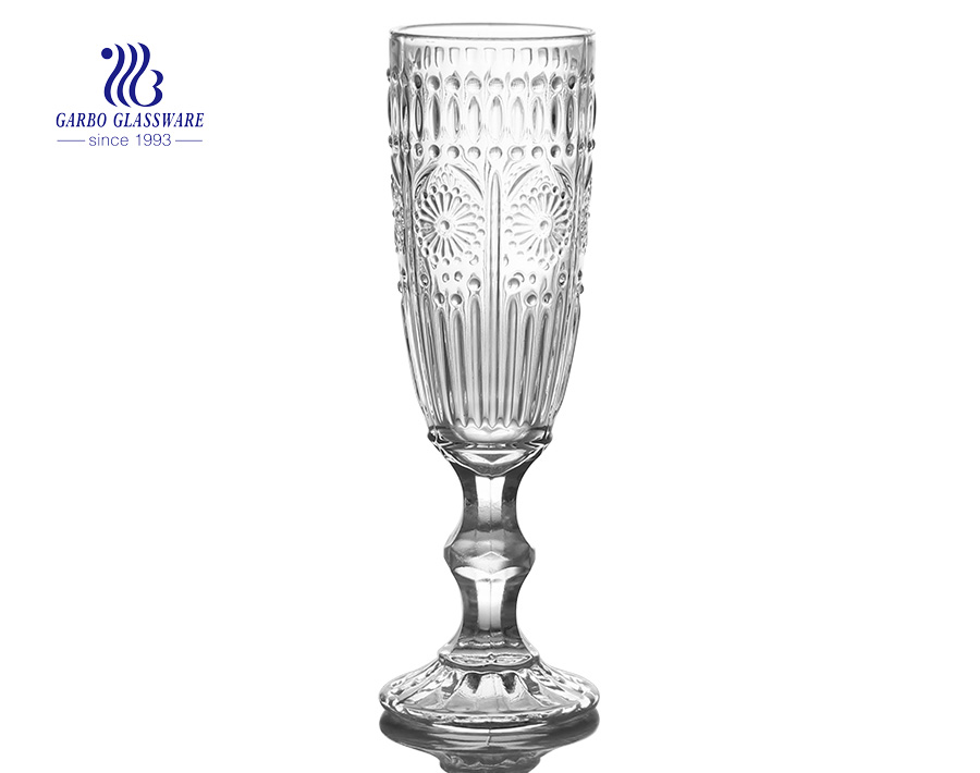 165ml champange glass flute engraved goblet for wedding using