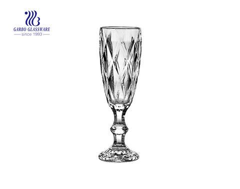 الناي الزجاجي الشمبانيا 165 مل منقوش القدح لحفل الزفاف باستخدام