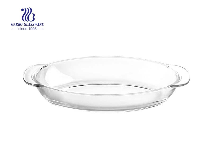 Kitchen Supply - Plato para hornear de vidrio ovalado de 13.15 pulgadas