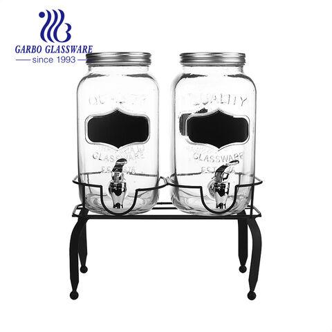 Máy pha chế đồ uống bằng bảng đen đôi có đế kim loại cho đồ uống có đá lạnh