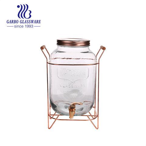 Dụng cụ pha chế đồ uống bằng thủy tinh trong suốt 1 Gallon đôi với đế vàng
