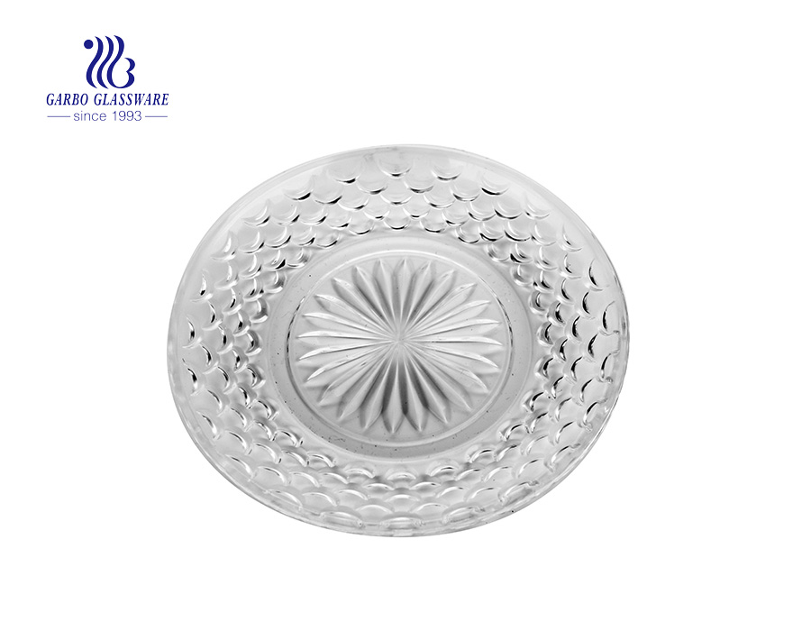 Wholesale Majestic 13inch hotel clear glass salad dessert dish with high quality