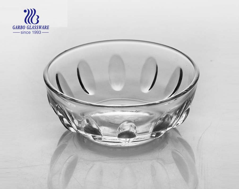 Projeto do pingo de chuva tigela redonda de vidro transparente de forma de 4 polegadas