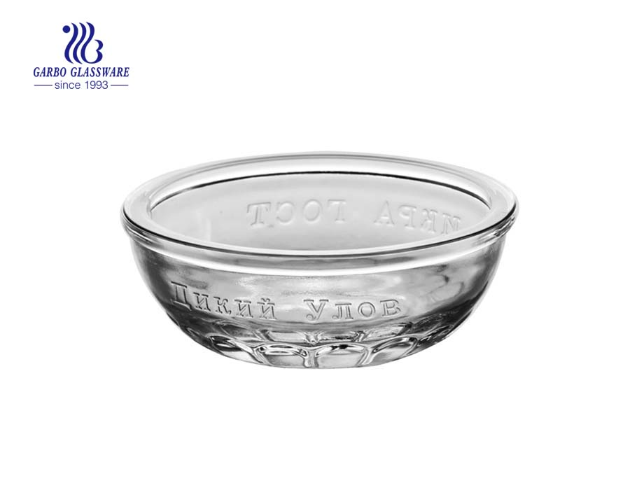 Raindrop design 4inch round shape clear glass bowl