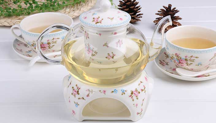 Heat Resistant Glass Tea Pot with Ceramic Infuser