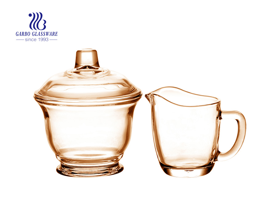 China wholesale beautiful tea drinking glass cup set