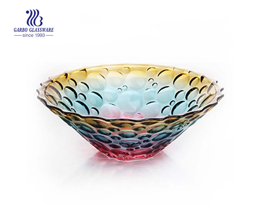 11.81'' Colorful Glass Bowl for Fruit Serving