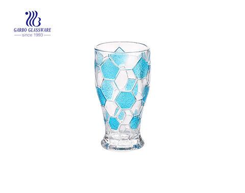 Copo de vidro gravado vidro do chá da cor 6oz
