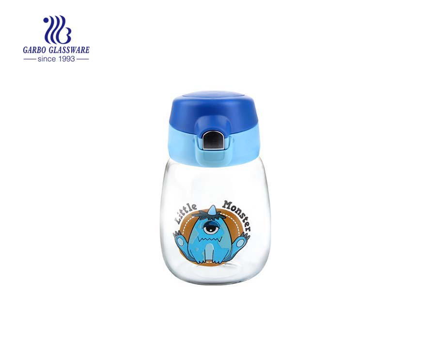 360ml Glass Water Bottle With Printing Lovely Design