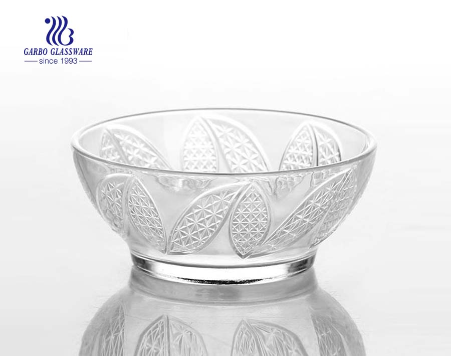 Decorative 5inch sun flower design glass bowl