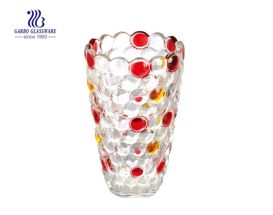 High Quality Spray Color Decorative Glass Vase