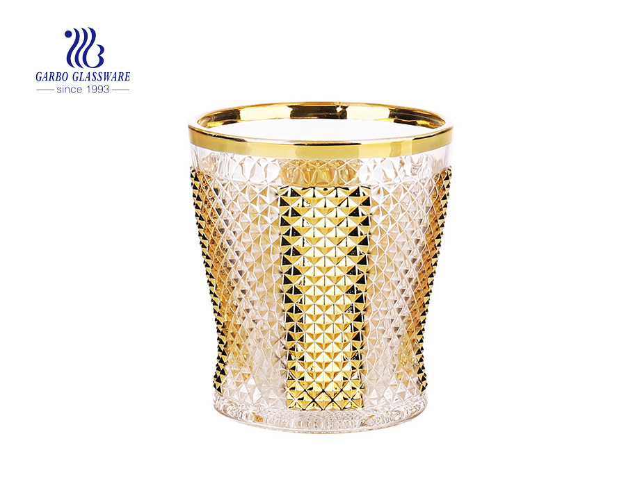 9oz golden engraved juice tumblers with factory price