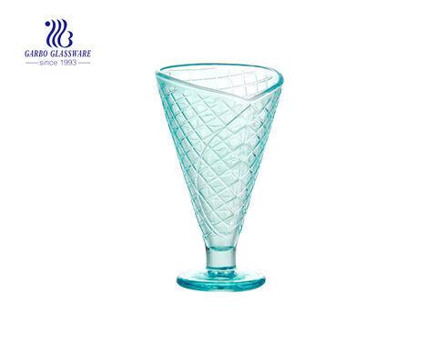 Neues Design farbiges Glas Eisgeschirr zum Nachtisch