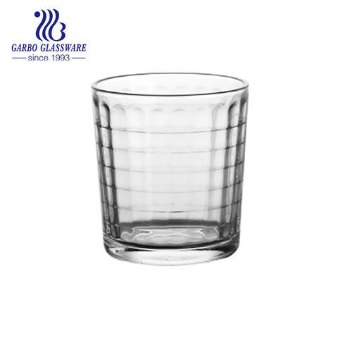 7oz de água e suco bebendo copo de vidro pressionado