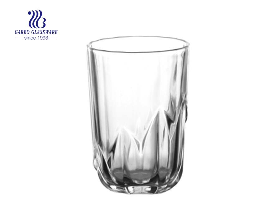8oz high quality clear pressed water and juice drinking glass cup
