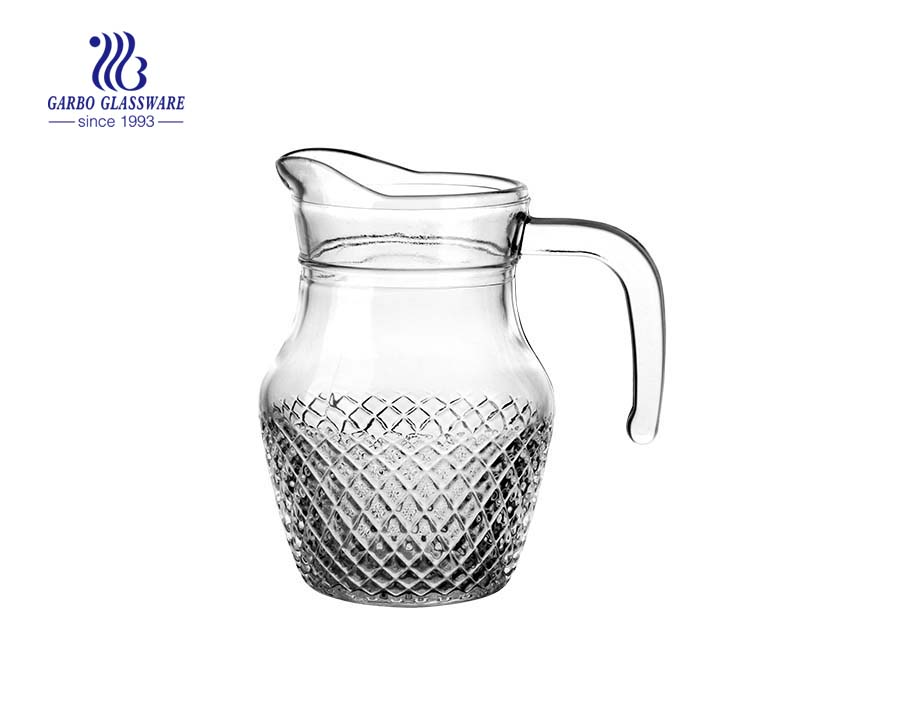Classic in stock small glass pitcher 500ML beverage wine glass jug