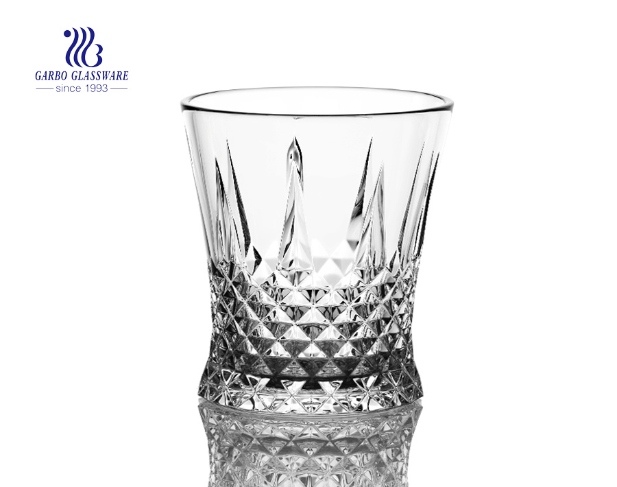 260ml engraved wine glass for juice drinking