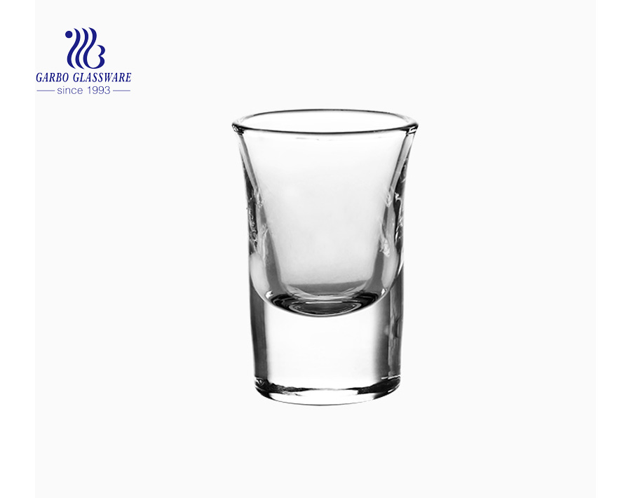 15ml hot sale popular high white high quality spirit glass cheap shot glass cup