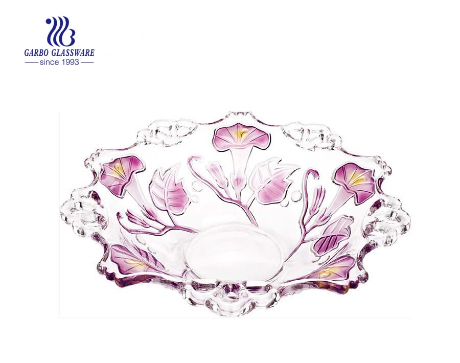 12.6'' Glass Bowl for Fruit Serving