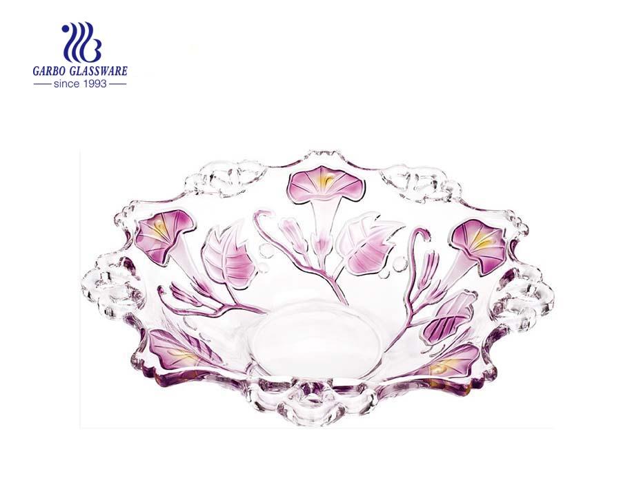 12.6'' Glass Bowl for Fruit Serving