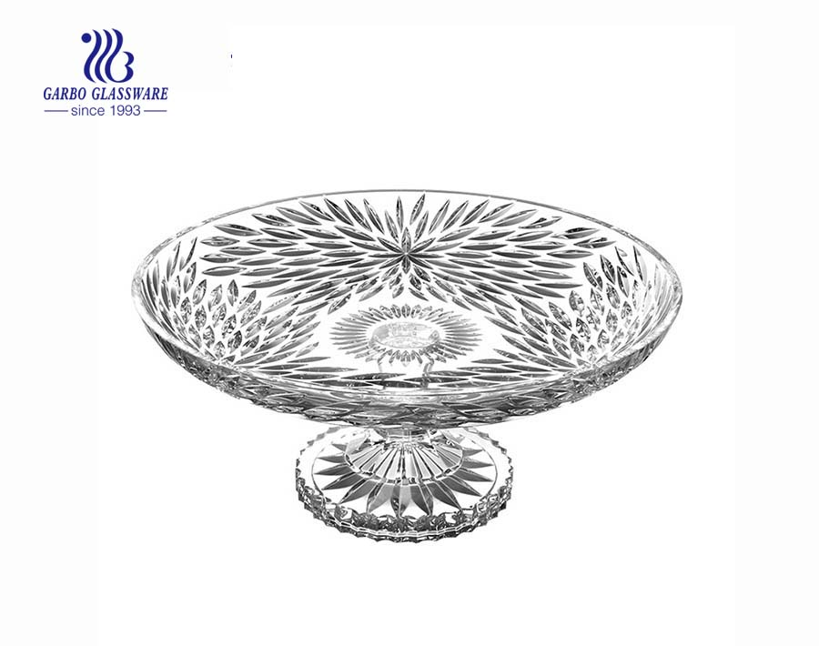 12.44'' Fireworks design of  Glass Plate with stand