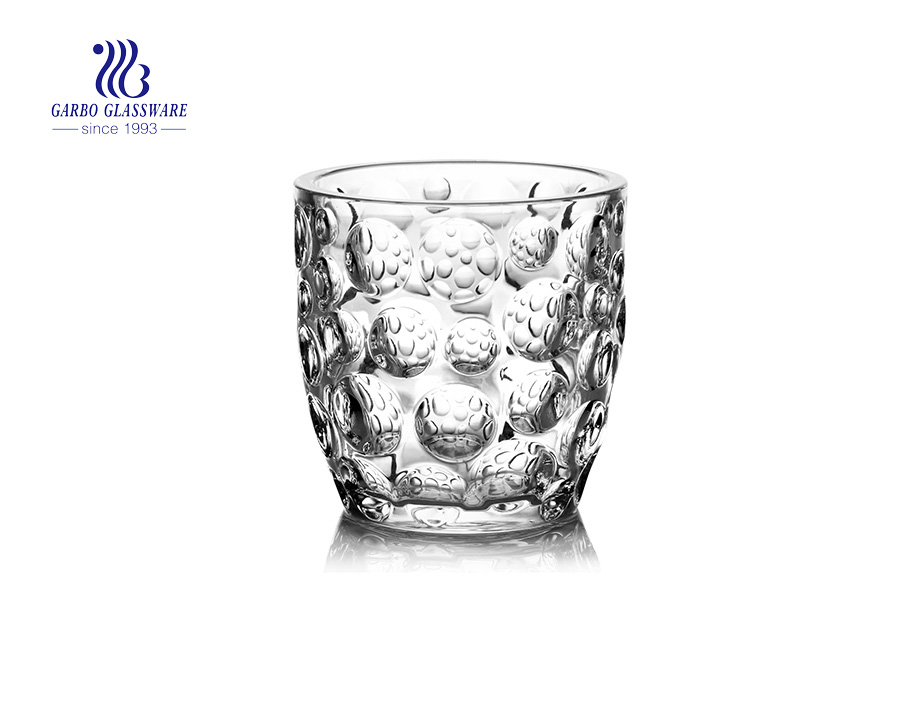 Clear Transparent  Glass Candle Holder   GB22158YD