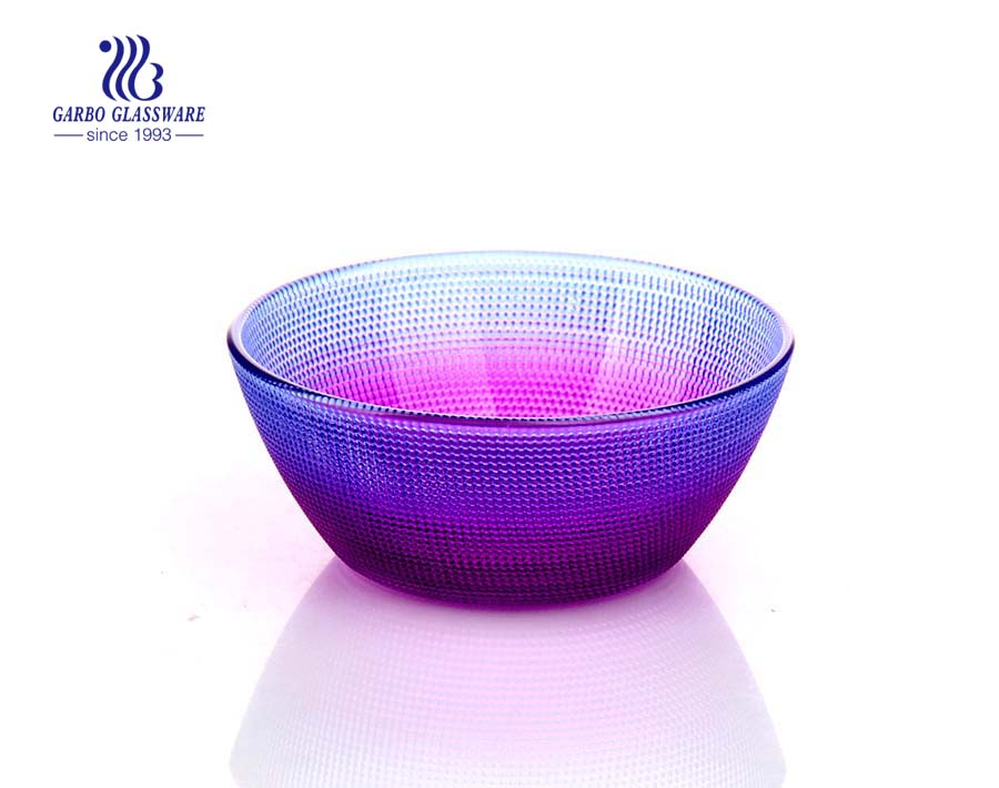 Spray gradient color fancy glass bowl for home wedding serving and decoration