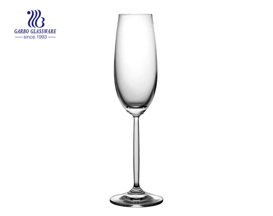 Customized wholesale high quality Lead Free Champagne wine glass