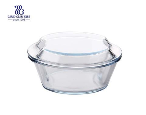 Hitzebeständige Pyrex-Glasschale, sicher für Geschirrspülmaschinen-Auflaufformen