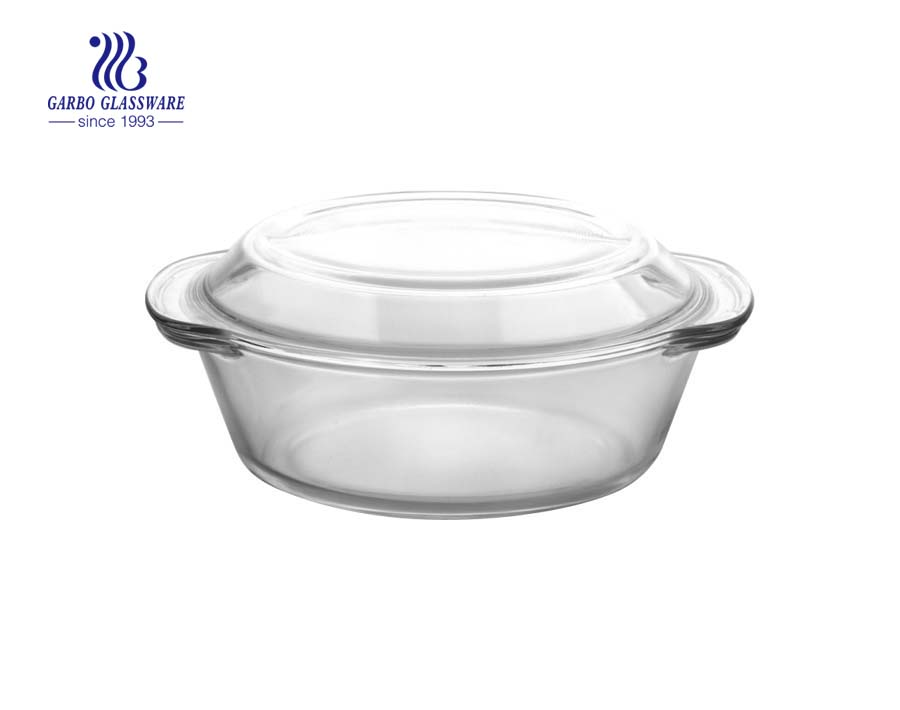 Heat resistant pyrex glass dish safe for dish-washing machine baking dish