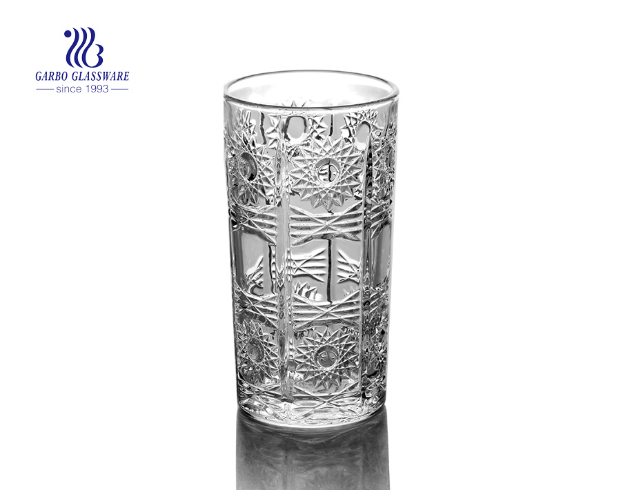 332ml glass juice tumbler for wedding gift set personalized glassware
