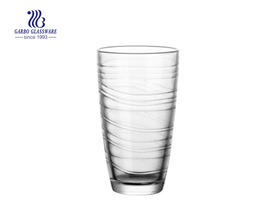 8oz hot sale water and juice drinking glass cup
