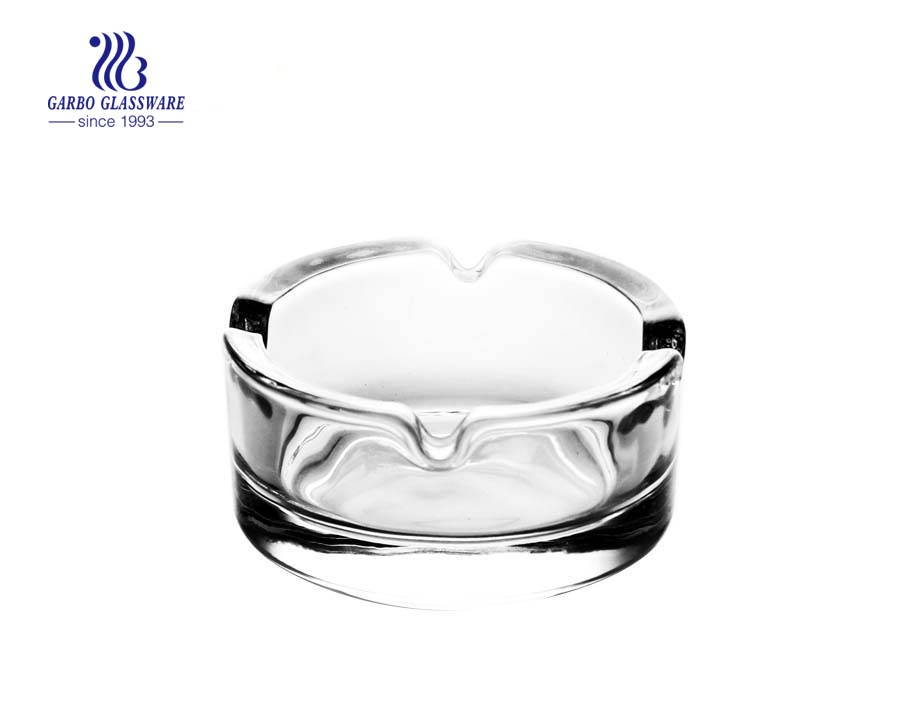 Round shape royal type design glass ashtray cigar smoking ashtray
