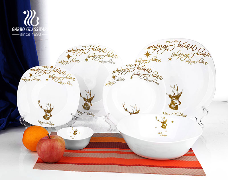 Dinnerware Type Glass Opal 18 PCS Dinner set for Microwave
