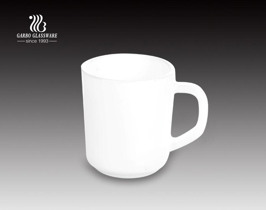 380ml Handgriff Kaffee Teetasse Schwarzer Opal Glasbecher Für Zuhause Gebraucht