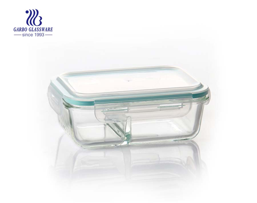 High quality 11inch retangular borosilicate baking plate with lid