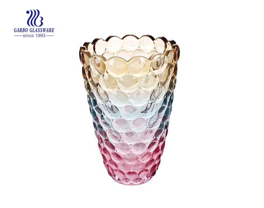Decorative Tableware Customized Spray Colorful Glass Vase