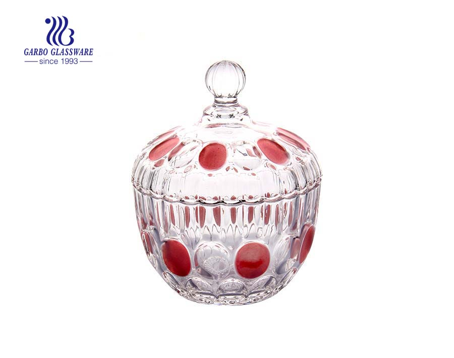 Wholesale Tableware Food Storage Glass Candy Pot with Lid