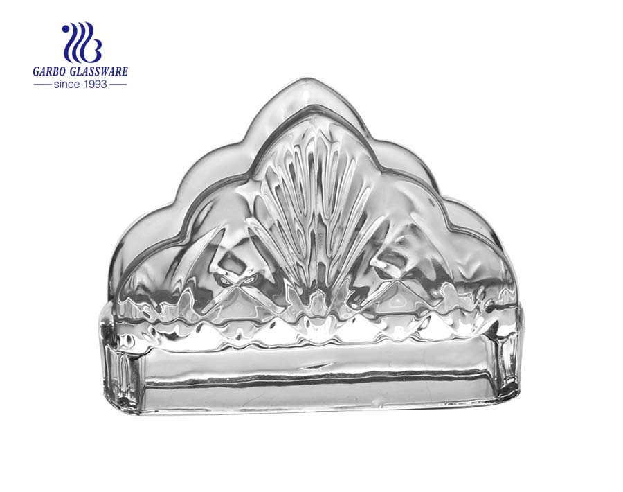 Garbo crystal decorative glass napkin holder perfect for holding napkins on table