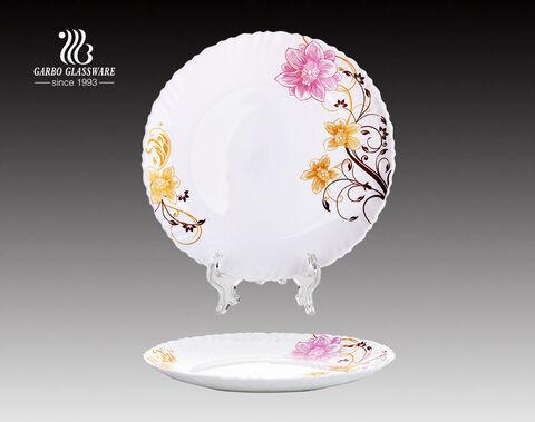 3Pcs Garbo gehärteten Aufkleber Opal Glasplatte Set für Hochzeitshotel