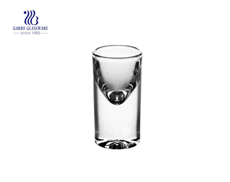 Vaso de chupito transparente popular de 17 ml de alta calidad de vidrio blanco transparente