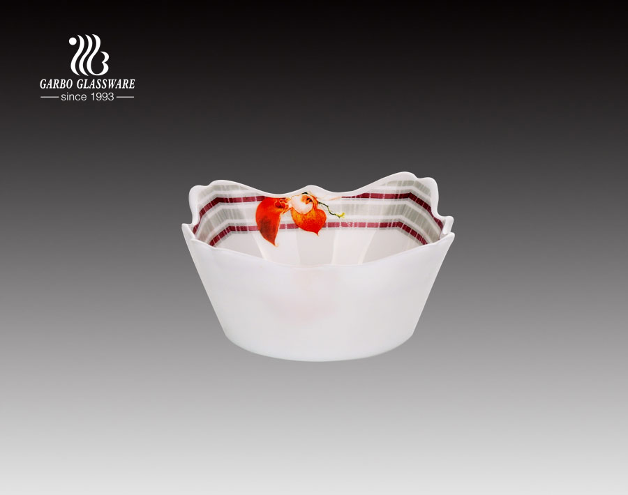5 inches China Factory  Opal Glass Bowl