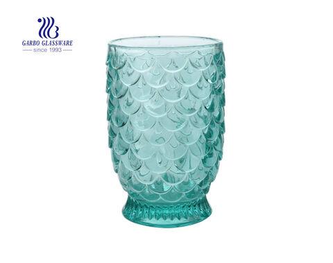 Cactus plant design Clear Transparent Glass candle holder