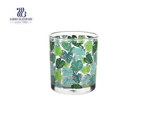 Cactus plant design castiçal de vidro transparente