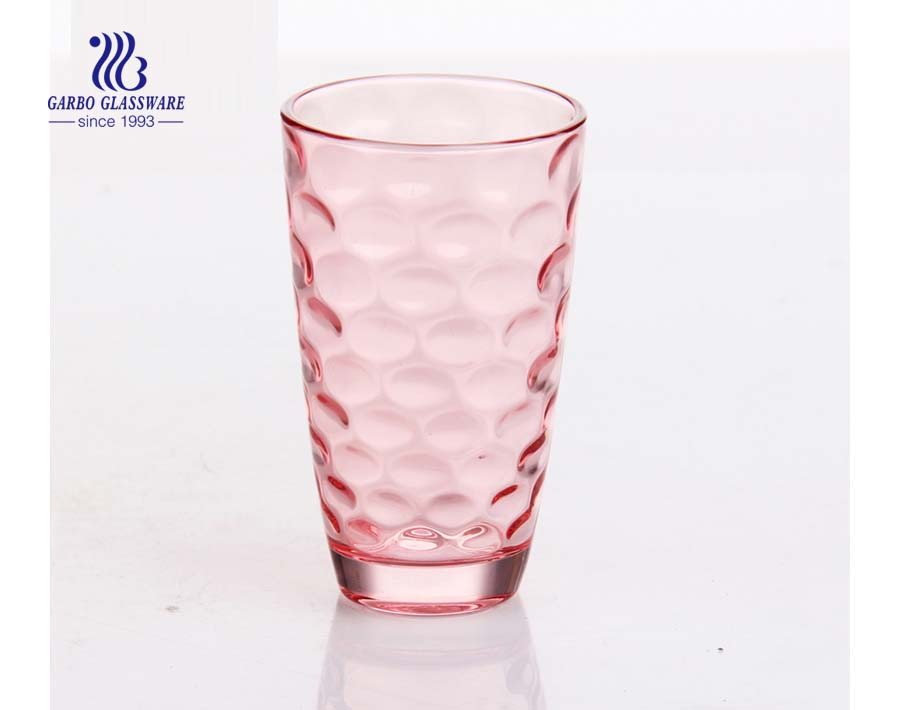 9oz dot design spray color water drinking tumbler