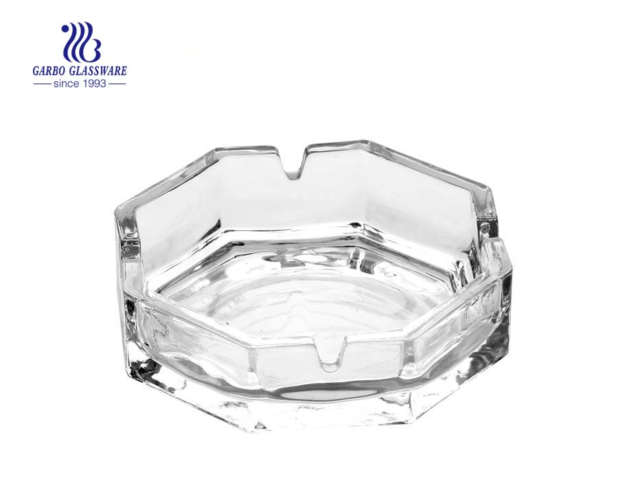 Glass ashtray in ashtray round shape with custom logo