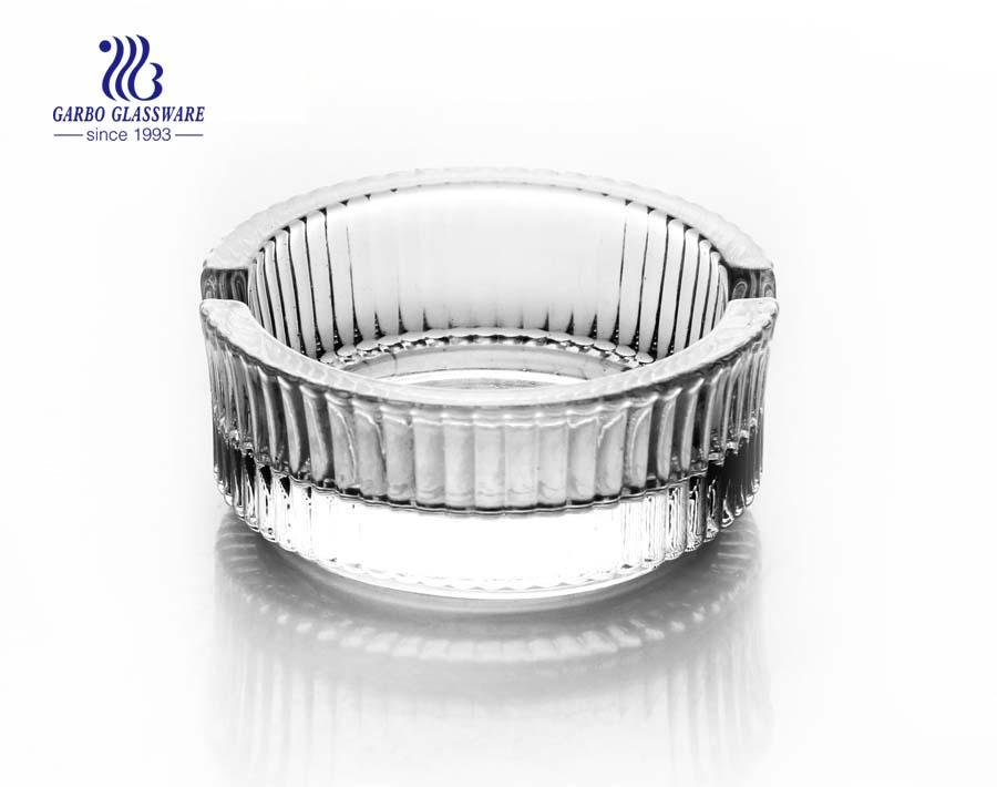 Glass ashtray in ashtray round shape with custom logo