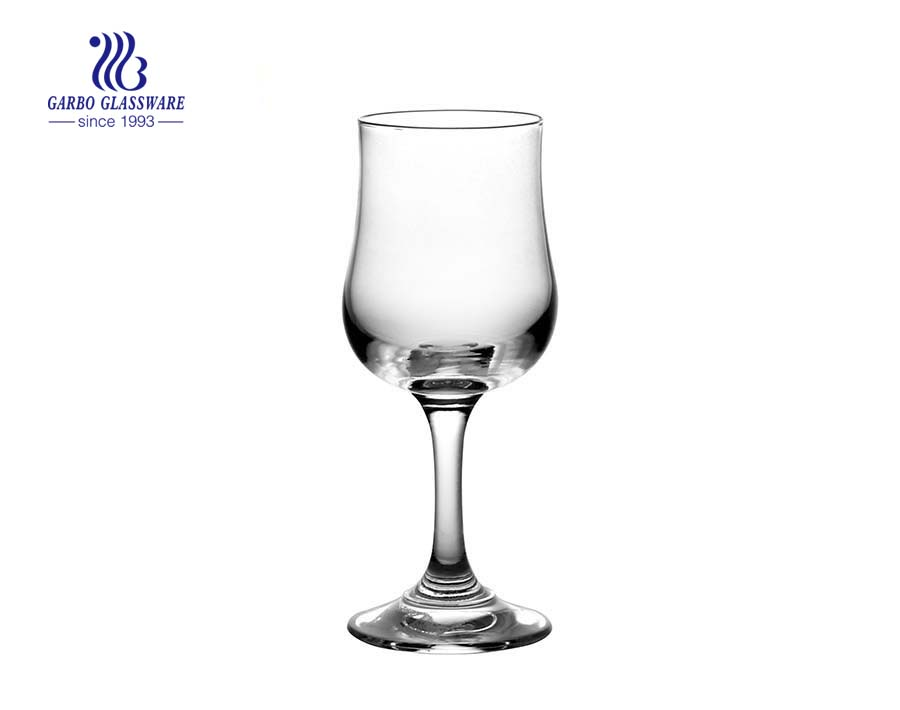 13oz facotry Wine Goblet Stemed crystal hurricane glass for juice and wine